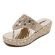 Women's Shoes Synthetic Wedge Heel Slingback Sandals Dress / Casual Silver / Rose Gold