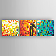 Oil Painting Abstract a Couple of Lovers Set of 3 pcs Hand Painted Canvas with Stretched Framed