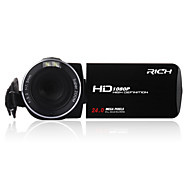 "Rich® HD-800 HD 1080p píxeles 13 mega píxeles con zoom de 16x pantalla LCD de 3 ""Full HD cámara de vídeo cámara digital"