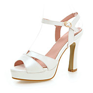 Women's Shoes Chunky Heel Heels / Peep Toe / Platform Sandals Wedding / Party & Evening  / Pink / White / Almond