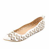 נעלי נשים - שטוחות - דמוי עור - שפיץ - כחול / ורוד / לבן - שטח / שמלה / קז'ואל - עקב שטוח