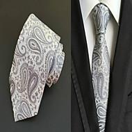 עניבה - דוגמא ( אפור , פוליאסטר )