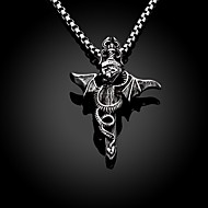 Dragon Cross Restoring Ancient Ways is Exaggerated Men Titanium Steel Pendant Necklace Christmas Gifts