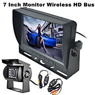 renepai® ασύρματη οθόνη 170 ° HD κάμερα οπισθοπορείας αυτοκινήτου με λεωφορείο άποψη 7 ιντσών + λεωφορείο υψηλής ευκρίνειας ευρεία γωνία