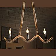 MAX 40W Lysekroner ,  Traditionel / Klassisk / Vintage / Kontor / Bedrift / Lanterne / Rustikk galvanisert Trekk for Candle stil Metall
