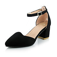 Women's Shoes Chunky Heel Heels / Comfort / Pointed Toe Heels Office & Career / Party & Evening / Dress Black / White
