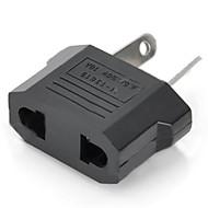VS / EU stekker comprimeren Australië reizen plug adapter - zwart