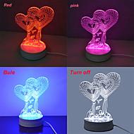 Jiawen 3.5w 3d illusion lampe de bureau de lumière créatif (110-220V)