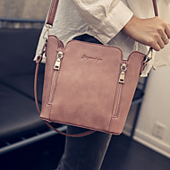 Women PU Barrel Shoulder Bag / Satchel - Pink / Green / Gray / Black
