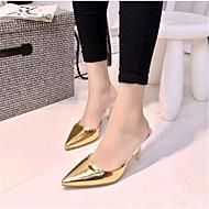 Women's Summer Heels Leatherette Casual Stiletto Heel Purple / Silver / Gold