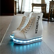 8 Colors LED 1.57 Inches Taller - Height Increasing Elevator Shoes  Lace-up Boots Fashion  Led Shoes Usb Charging
