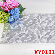 Ivory Pattern Leather Without Washing Placemat Dining Table / Wedding Banquet Dinner / Christmas Decor Favor / Table