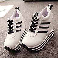Teletalpú-Parafa-Női cipő-Divatos teniszcipők-Alkalmi-Vászon-Fekete / Piros / Fehér