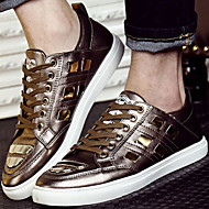 Men's Shoes Outdoor / Office & Career/Party & Evening/Athletic / Casual Patent Leather Fashion Sneakers Black/Gold