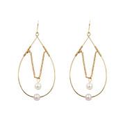 Earring Drop Earrings Jewelry Women Wedding / Party / Daily / Casual / Sports Pearl / Alloy 2pcs Gold