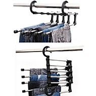 Multi-functional Stainless Steel 5 Layers Tie Towels Clothes Hanger MultiLayer Pants Rack Telescopic Trouser Hanger