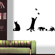 Wall Stickers Wall Decals Style Play Cute Cat Waterproof Removable PVC Wall Stickers