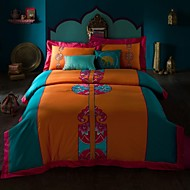 Boho/Bohemia embroid Bedding Sets Queen King Size Cotton Bedcover