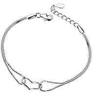Bracelet Chaîne Argenté Strass Homme / Unisexe / Amoureux / Femme
