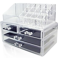 Cosmetic Storage&Acrylic Jewelry Display Boxes Two Pieces Set.