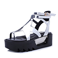 Women's Shoes Microfibre Platform Slingback / Fashion Boots / Creepers Sandals Outdoor / Dress Silver