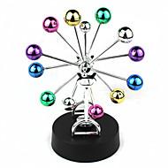 カラフルなボールの回転観覧車永久運動デスク工芸家の装飾飾り4×AA