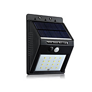 16 LED Weatherproof Outdoor Solar White Lighting with Motion Sensor Patio Lamp White