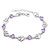 Náramky Řetězové & Ploché Náramky Postříbřené láska Svatební Šperky Dárek Stříbrná,1ks