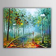 Kézzel festett Absztrakt / Landscape / Fantasy / Absztrakt tájképEurópai stílus Egy elem Vászon Hang festett olajfestmény For