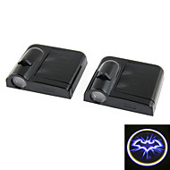 2 Pcs Welcome Car Light Wireless Led Projector Light Courtesy Lamp