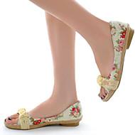 Women's Shoes Heel Peep Toe Sandals Outdoor / Dress / Casual Blue / Red/308