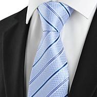 Gravata(Azul / Roxo Claro,Poliéster)Listrado