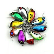 10pcs Hengjia Mini Crank Baits 1.5g 30mm Fishing Lures Random Colors