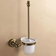 Toilet Brush Holder Antique Copper Wall Mounted 28*23*18cm Aluminum Contemporary