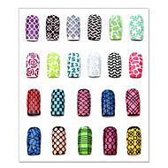 3D Nail Acrylic Molds-PVC-Kukka-Sormi / Varvas-7.5*13cm-1pcs nail sticker template