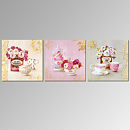 VISUAL STAR®3 Panel Vintage Vase Canvas Prints Home Decor Flower Canvas Wall Art Ready to Hang
