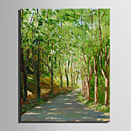 Mini Size E-HOME Oil painting Modern Roads In The Woods Pure Hand Draw Frameless Decorative Painting
