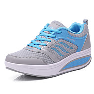 Women's Spring / Summer / Fall / Winter Comfort Leather / Tulle Lace-up Black / Blue / White / Gray / Fuchsia Fitness & Cross Training