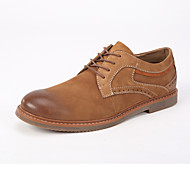 Men's Shoes Office & Career / Casual Leather Oxfords Brown / Gray