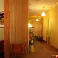 w100cm * l202cm, одна панель стержень карман многоцветные линии шнура шторы кисточкой шарф