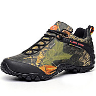 Men's Trail Running Shoes Hiking Shoes Leather / Canvas Green