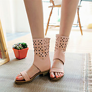 Women's Shoes Chunky Heel Gladiator / Open Toe Sandals Outdoor / Dress / Casual Black / Blue / Pink / White