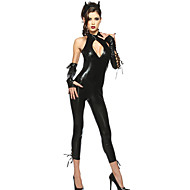 Women's Paint Siamese Cat Girl Role Bar Party Costume Catsuit