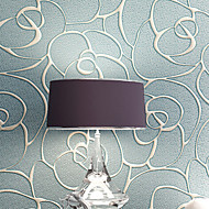 PALUTON Floral Wallpaper Contemporary Wall Covering,Non-woven Paper Continental Wallpaper 3D Relief Coining