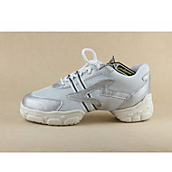 Customizable Men's Dance Shoes for Dance Sneakers/Modern in Silver