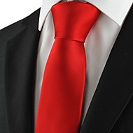 New Solid Red Men Tie Necktie Formal Wedding Party Holiday Valentine Gift KT1019