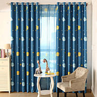 Two Panel European Contracted Cartoon Style Children Room Sitting Room The Bedroom Curtains