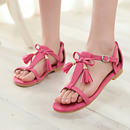Women's Shoes Heel Peep Toe Sandals Outdoor / Dress / Casual Black / Blue / Pink / Red / Almond/5-22