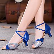 Sapatos de Dança(Azul / Prateado / Dourado) -Feminino-Não Personalizável-Dança do Ventre / Latina / Tênis de Dança / Moderna / Salsa /