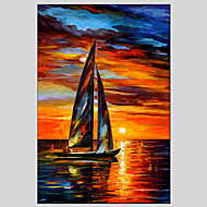 dipinti ad olio paesaggio marino materiale tela con telaio allungato pronto ad appendere formato 90 * 60cm